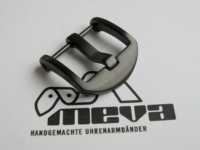 22mm OEM-buckle satined black PVD