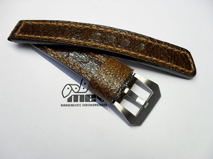 "20003 - 20mm watchstrap ""Salmon dark brown"""
