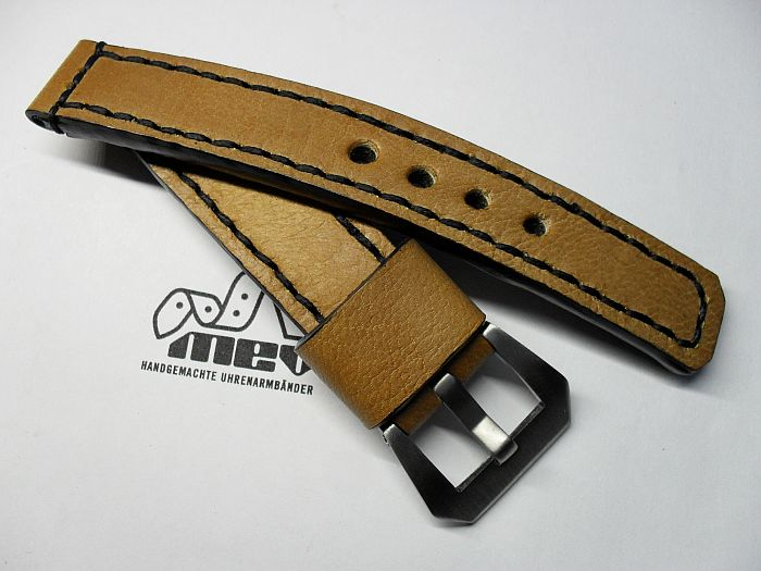 "20004 - 20mm watchstrap ""Calf light brown"""