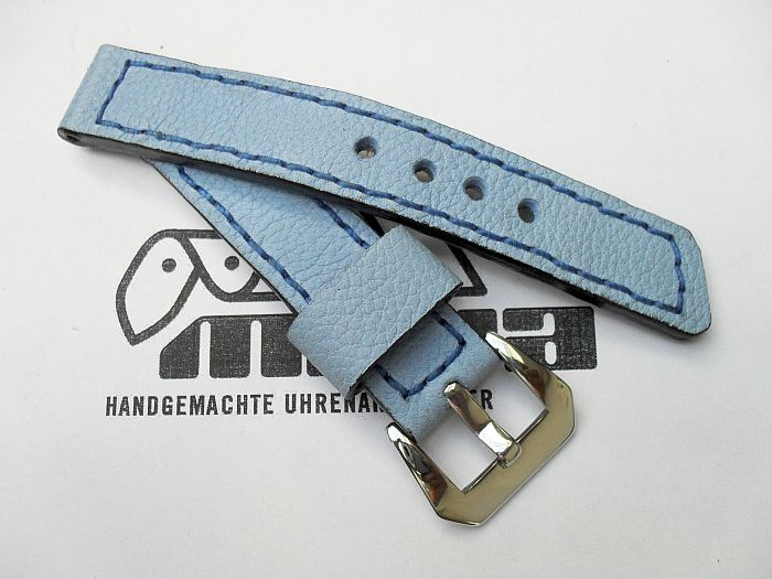 "20005 - 20mm watchstrap ""Calf light blue"""