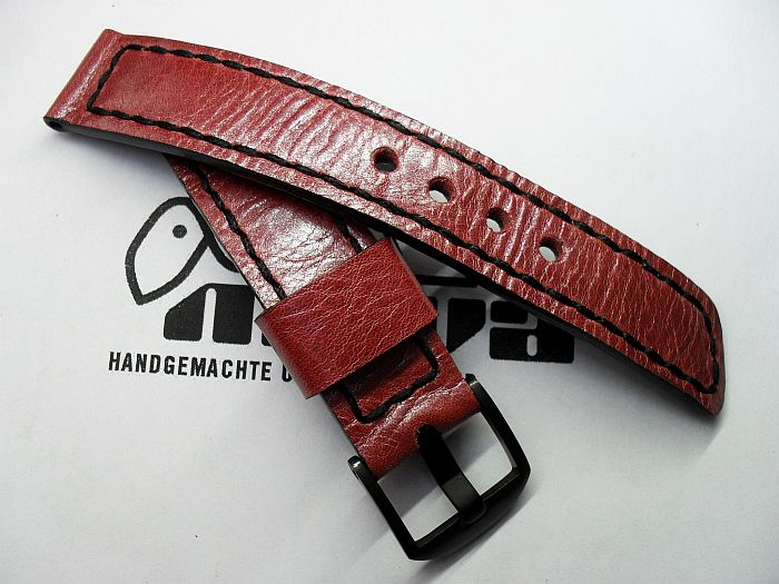 "20008 - 20mm strap ""Calf metallic red"""
