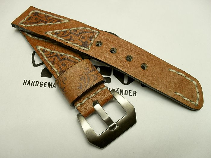 "20012 - 20mm strap ""Calf light brown printed"""