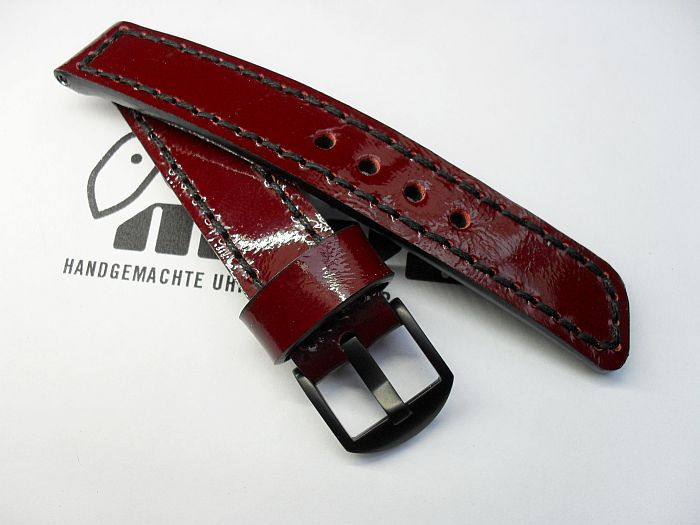 "20015 - 20mm Strap ""patent leather blood red"""