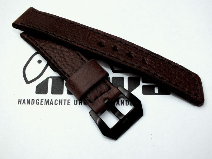 "20027 - 20mm watchstrap ""calf dark brown"""