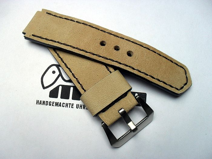 "22010 - 22mm Strap ""Buckskin beige for STEINHART Nav B"""