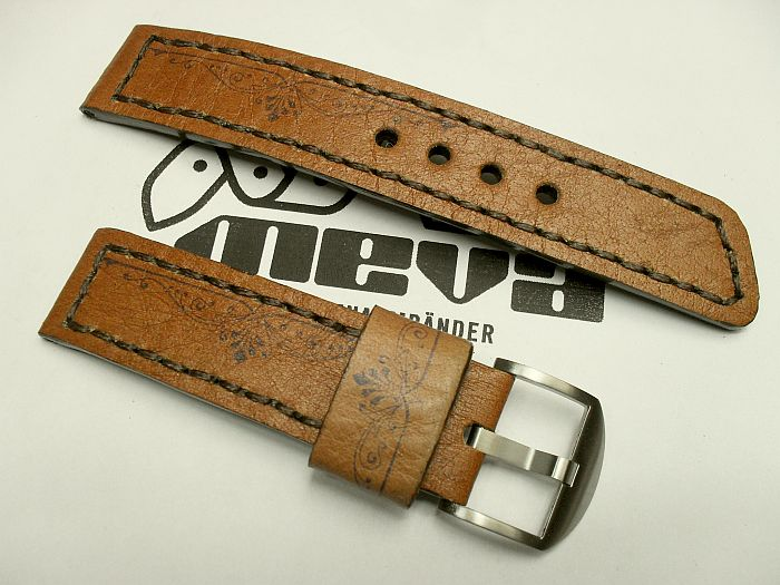"22011 - 22mm Strap ""Calf light brown printed"""