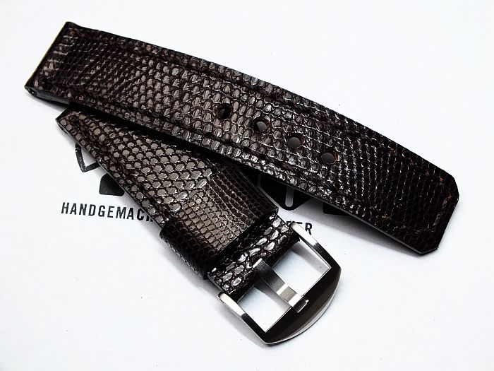 "24017 - 24mm Strap ""Lizard dark brown"""