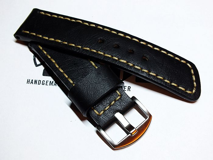"26008 - 26mm Strap ""Calf black vintage"""