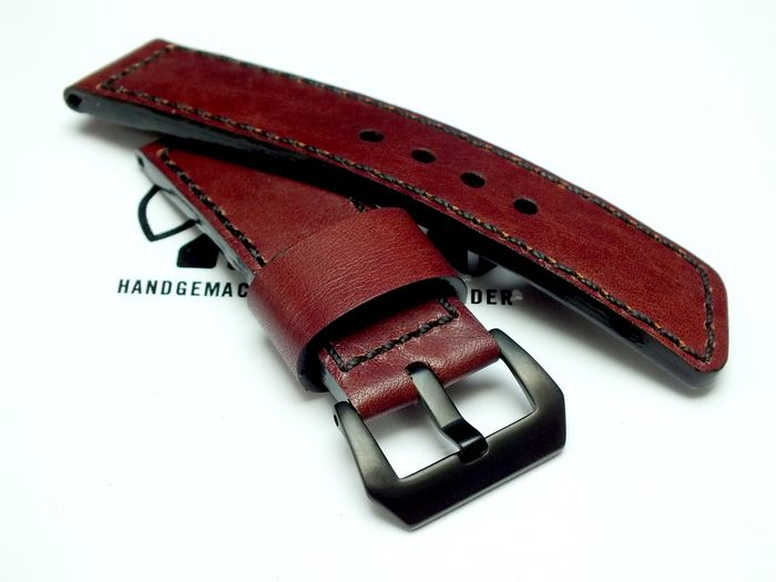 "26014 - 26mm Strap ""Calf wine red"""