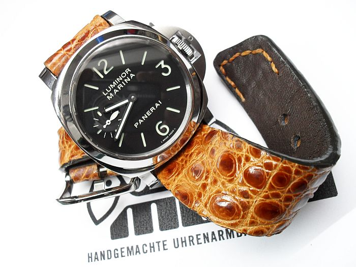 "custom made straps for ""PANERAI"""